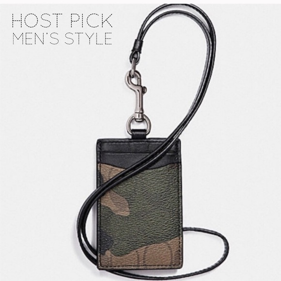 Coach Other - 🎉 HP 🎉 🆕 Coach Camouflage ID Badge Lanyard